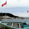 The Newfoundland Tricolour and a boat